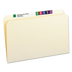 Smead Manila File Folders, Recycled, Single Ply Top, Straight Cut, Legal, 100/Box