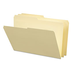 Smead Manila File Folders, Recycled, Single Ply Top, 1/2 Cut, Legal, 100/Box