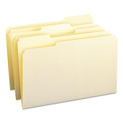 Smead Manila File Folders, Single Ply Top, 1/3 Cut/Assorted, Legal, 100/Box