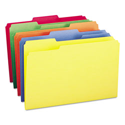 Smead File Folders, Single Ply Top, 1/3 Cut, Legal, Assorted Colors, 100/Box