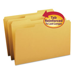 Smead Top Tab File Folders, Double Ply Top, 1/3 Cut, Legal, Goldenrod, 100/Box