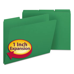 Smead Pressboard File Folders, Top Tab, Letter, 1/3 Cut, Green, 25/Box