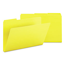 Smead Pressboard File Folders, Top Tab, Legal, 1/3 Cut, Yellow, 25/Box
