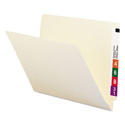 Smead Shelf Folders, Straight Cut, Single-Ply End Tab, Letter, Manila, 100/Box