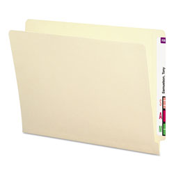 Smead Antimicrobial End Tab File Folders, Letter Size, 11 pt. Stock, Manila, 100/Box