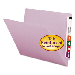 Smead End Tab Folders, Double Ply Straight Cut Tab, Letter Size, Lavender, 100/Box