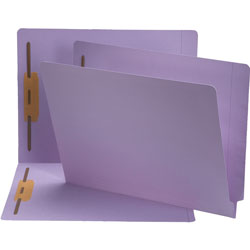 "Smead Color Fastener Folder, 3/4"" Exp, Letter, Lavender"