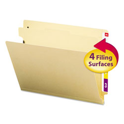 Smead Four Section Manila End Tab Classification Folders, Letter Size, 10/Box
