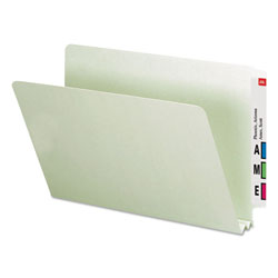 Smead Heavy Duty Folders, End Tab, Two Inch Expansion, Legal, Gray Green, 25/Box