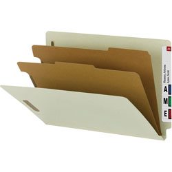 Smead Classification Folder, Legal, Recycled, 2/DV, BN/BE