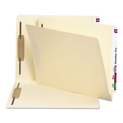 "Smead End Tab Folders, 3/4"" Expansion, 2 Fasteners, 11 pt. Manila, Letter, 250/Ctn"
