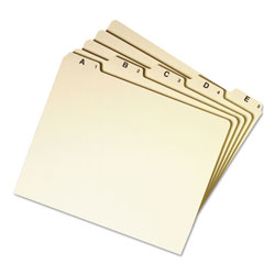 Smead A Z Top Tab Recycled File Guides, 1/5 Cut Self Tabs, Manila, Letter, 25/Set