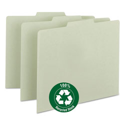 Smead Recycled Green Pressboard File Guides, 1/3 Cut, Blank Self Tabs, Letter, 100/Box