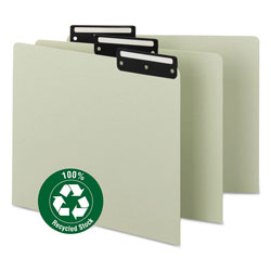 Smead Recycled Green Pressboard File Guides, 1/3 Cut, Blank Metal Tabs, Letter, 50/Box