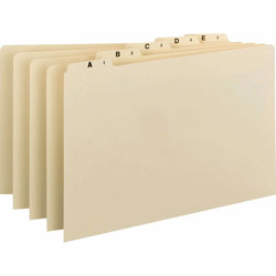 Smead A Z Top Tab Recycled File Guides, 1/5 Cut Self Tab, Manila, Legal, 25/Set