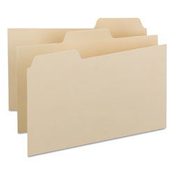 Smead Blank Self Tab Manila Card Guides, 5 x 8, 1/3 Tab Cut, 100/Box