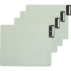Smead Pressboard End Tab Guides, Vertical Metal Tabs, Blank, Letter, Green, 50/Box