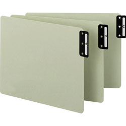 Smead Pressboard End Tab Guides, Vertical Metal Tabs, A Z, Letter, Green, 25/Set