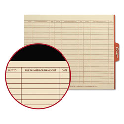 Smead Manila End Tab Outguides, Red 1/5 Cut Center Tab, Letter Size, 100/Box