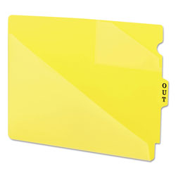 Smead Vinyl End Tab Outguides, Two Diagonal Cut Pockets, Letter Size, Yellow, 50/Box