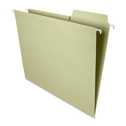 Smead Hanging Folders,w/2-Ply Tabs Attached,1/3 Tab,Ltr,20/BX,Moss