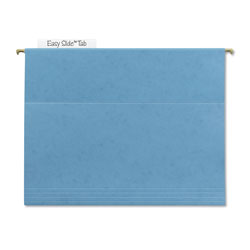 Smead Hanging Folder w/Easy Slide Tab, Letter, Blue, 18/Pack