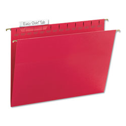 Smead Hanging Folder w/Easy Slide Tab, Letter, Red, 18/Pack