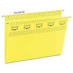 Smead Hanging Folder w/Easy Slide Tab, Letter, Yellow, 18/Pack