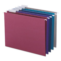 Smead Designer Color Assortment Hanging Folders, Letter, Matching 1/5 Cut Tabs, 25/Box