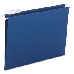 Smead Hanging Folders, Recycled, Letter Size, Navy, Color Matched 1/5 Tabs, 25/Box