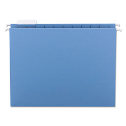Smead Hanging Folders, Recycled, Letter Size, Blue, Color Matched 1/5 Tabs, 25/Box