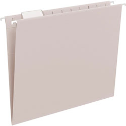 Smead Hanging Folders, Recycled, Letter Size, Gray, 1/5 Cut Clear Tabs, 25/Box
