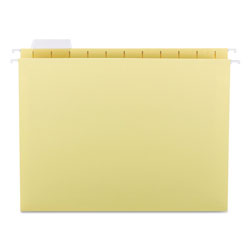 Smead Hanging Folders, Recycled, Letter Size, Yellow, Color Matched 1/5 Tabs, 25/Box