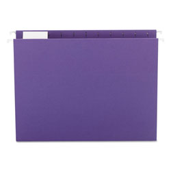 Smead Hanging Folders, Recycled, Letter Size, Purple, 1/5 Cut Lavender Tabs, 25/Box
