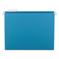 Smead Hanging Folders, Recycled, Letter Size, Teal, 1/5 Cut Blue Tabs, 25/Box