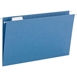 Smead Hanging Folders, Recycled, Legal Size, Blue, Color Matched 1/5 Cut Tabs, 25/Box