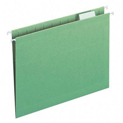 Smead Hanging Folders, Recycled, Legal, Bright Green, Color Matched 1/5 Tabs, 25/Box