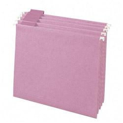 Smead Hanging Folders, Recycled, Legal, Lavender, Color Matched 1/5 Cut Tabs, 25/Box