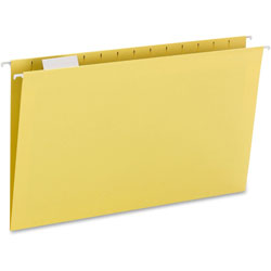 Smead Hanging Folders, Recycled, Legal, Yellow, Color Matched 1/5 Cut Tabs, 25/Box