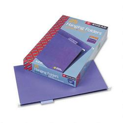 Smead Hanging Folders, Recycled, Legal Size, Purple, 1/5 Cut Lavender Tabs, 25/Box