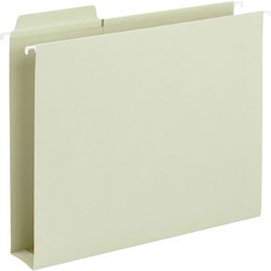 Smead Box Bottom Hanging Folders, Built-In Tabs, Letter, Moss Green