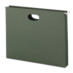 "Smead Expandable Hanging File Pockets, Letter Size, 1 3/4"" Cap., Standard Green, 25/Bx"