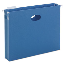 "Smead Flexible Hanging File Pockets, Letter Size, 2"" Capacity, Sky Blue, 25/Box"