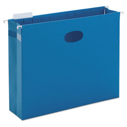 "Smead Flexible Hanging File Pockets, Letter Size, 3"" Capacity, Sky Blue, 25/Box"