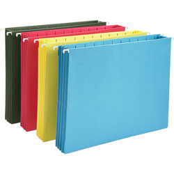 Smead Hanging Pocket File Folders with Full Height Gusset, Letter, Assorted