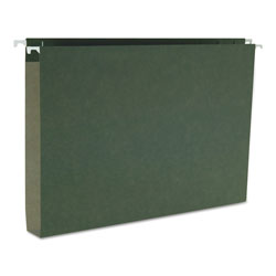 "Smead Box Bottom Hanging Folders, Legal Size, 1"" Capacity, Green, 25/Box"
