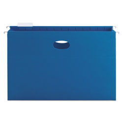 "Smead Flexible Hanging File Pockets, Legal Size, 3"" Capacity, Sky Blue, 25/Box"