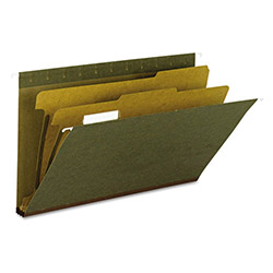 Smead Hanging File Folder, C F Legal, 1/5 2Div Rec, SD/GN
