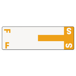 Smead Color Coded Name Labels, First Letter, Orange, Letters F&S, 100/Pack