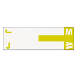 Smead Color Coded Name Labels, First Letter, Yellow, Letters J&W, 100/Pack